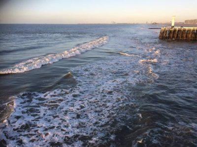 Voorjaarsstormen leggen zandbank voor haveningang Blankenberge