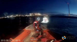 Motorboot Nemo met platte batterij