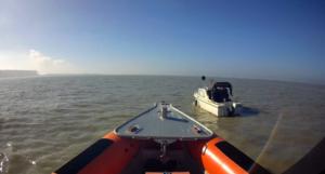 Motorboot Kreukel met motor problemen