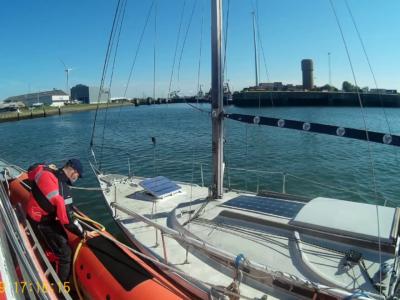 Motorpech in haven van Zeebrugge