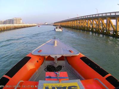 Motorboot met platte batterij